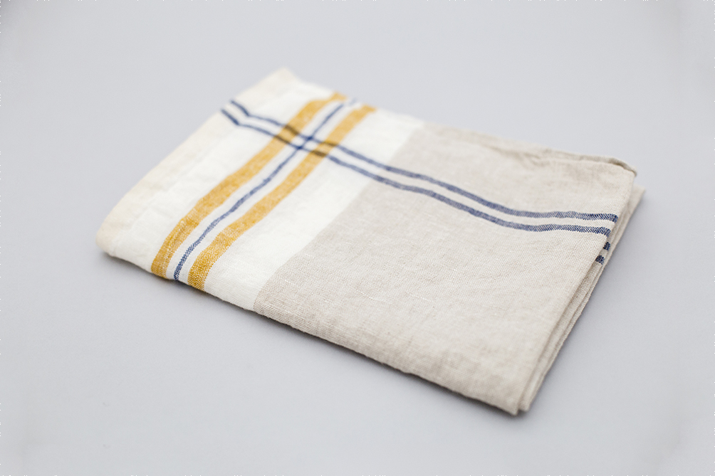 BLUE AND MUSTARD KITCHEN CLOTH