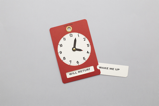 RED CARD CLOCK SIGN