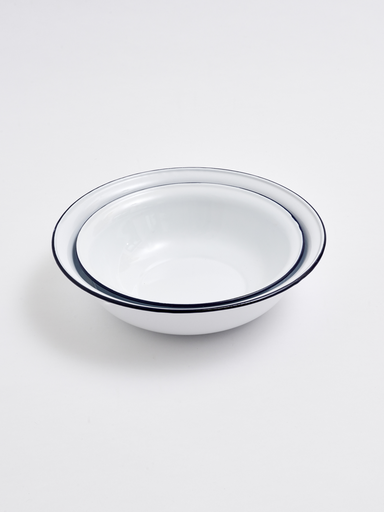 WHITE ENAMEL BOWL 180 mm