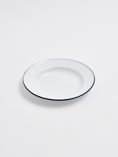 WHITE ENAMEL PLATE 220 MM