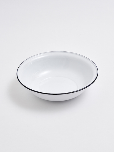 WHITE ENAMEL PLATTER 280 MM