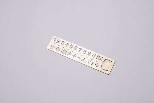 BRASS NUMBER BOOKMARK