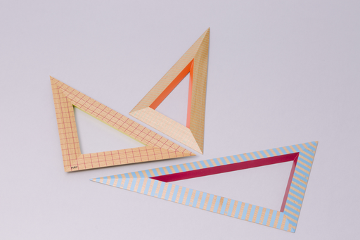 TRIANGLE WOODEN RULER