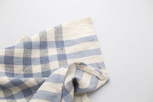 BLUE GINGHAM LINEN KITCHEN CLOTH