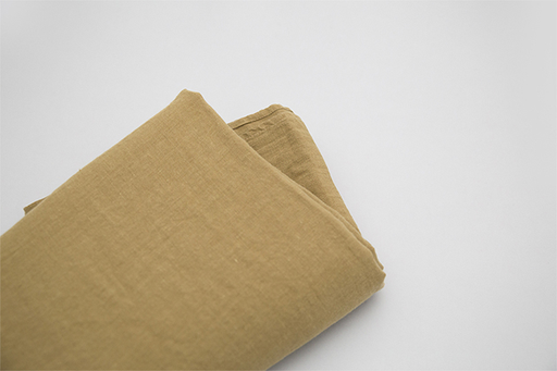 CURRY LINEN BED SHEET, SINGLE BED