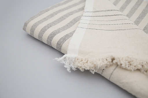 STRIPED COTTON BLANKET
