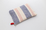 RED AND BLUE STRIPES LINEN POUCH
