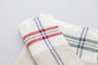 RED AND BEIGE LINEN NAPKIN